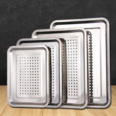 不锈钢漏盘长方形茶盘托盘家用饺子沥水盘漏油盘过滤漏水沥油盘子