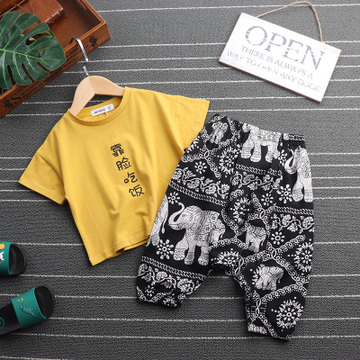 男童夏装2018新款套装男宝宝夏季童装小童帅气儿童男孩潮衣两件套
