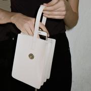 迷你时尚小包包2018新款韩版简约多层百搭迷你托特水桶手提手拿包