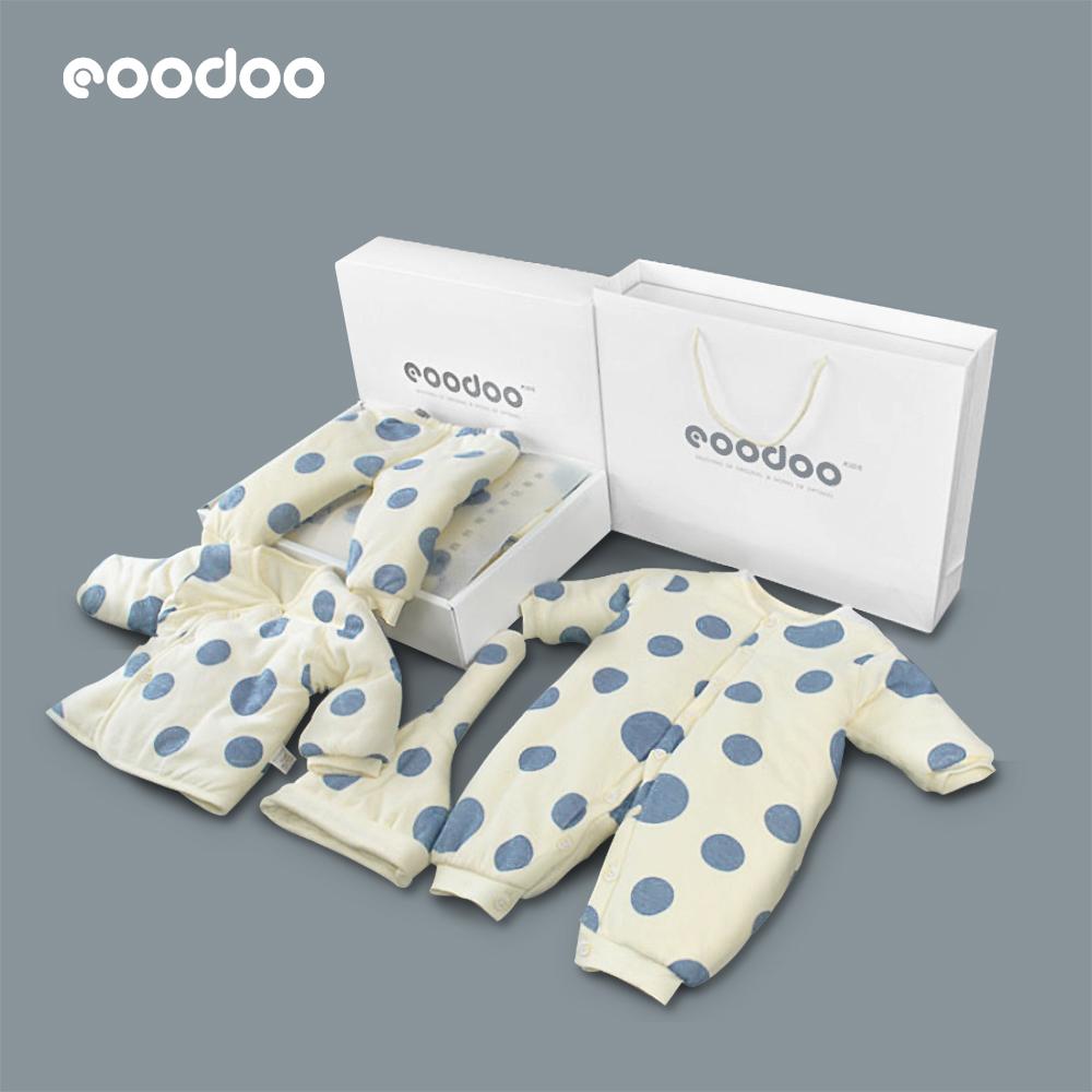 eoodoo初生婴儿衣服新生儿礼盒秋冬套装满月礼物母婴宝宝用品大全