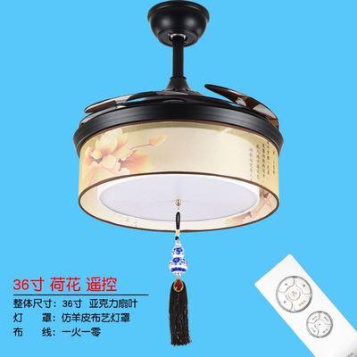 吊扇灯中式现代中式