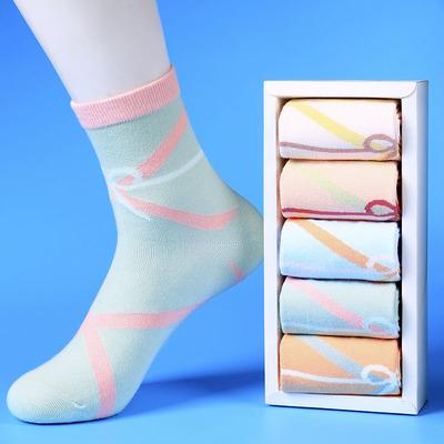 袜子女纯棉中筒袜韩版加厚秋冬款个性棉袜全棉韩国个性冬季女袜长