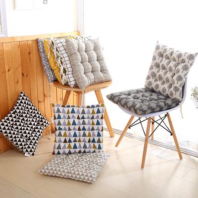 冬季加厚椅子垫办公室学生电脑椅坐垫餐桌餐椅垫棉麻布艺北欧简约