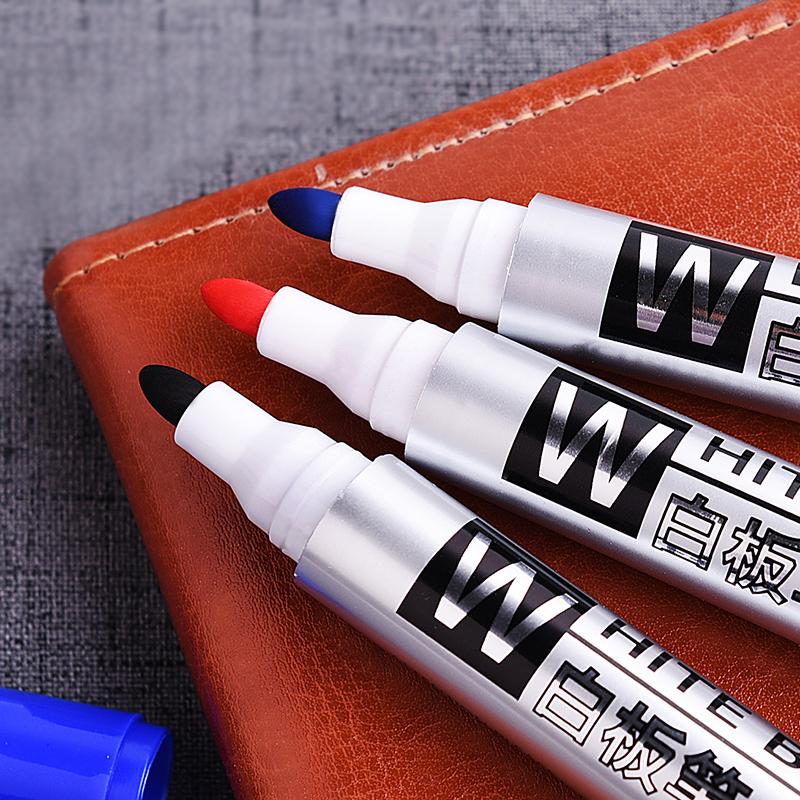 创易白板笔可擦彩色水性黑板教学笔圆头红色蓝黑色办公用品包邮
