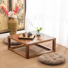 榻榻米茶几老榆木简约守酒窗桌炕桌炕几地台矮桌小桌子窗台桌