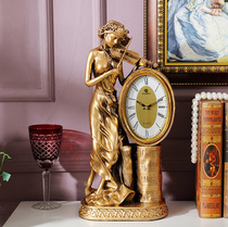 European-style living room clock decoration TV cabinet Decorations Home Jewelry Gateway Furnishings Creative Clock Jewelry Crafts