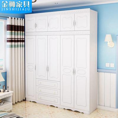 地中海风格美式木质衣柜简约现代乡村三四门板式家具五六门大衣橱今日特惠