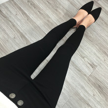 Black underpants for ladies wearing Korean magic trousers in spring and Autumn