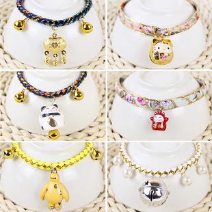 猫铃铛泰迪铃铛项圈日本和风狗项链小型猫犬铃铛脖圈宠物铃铛挂件
