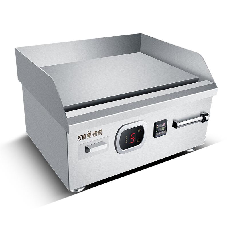 商用电磁扒炉6000W餐厅酒店煎牛排铁板烧设备烤肉饼鱿鱼机电扒炉