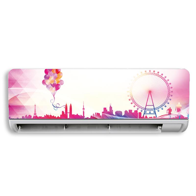 包邮壁挂式空调风景花卉 翻新贴膜空调贴纸 装饰空调贴空调贴画