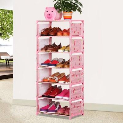 长40宽26cm小型号多层鞋柜简易组装钢架加厚布艺防尘收纳特价包邮