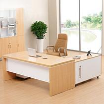 新款加厚老板桌大班台总裁桌办公家具老板办公桌经理桌主管桌简约
