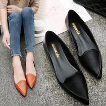 泰国产地新品海蛇皮蝴蝶结欧美时尚浅口低帮平底女鞋SIAMNICE