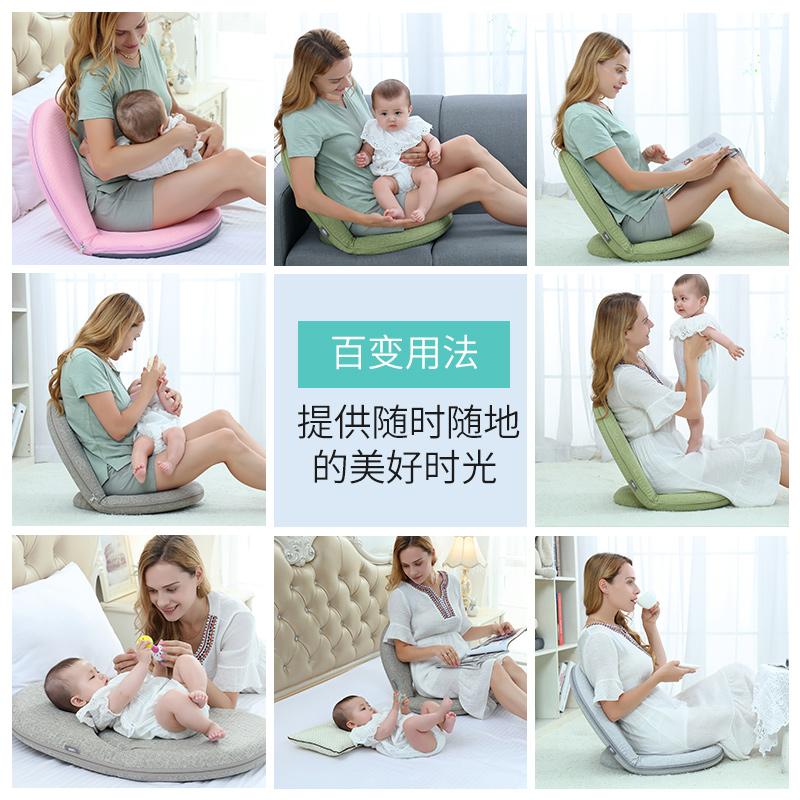 喂奶神器床上喂奶椅坐月子哺乳护腰靠背凳哺乳枕头坐喂折叠靠背椅