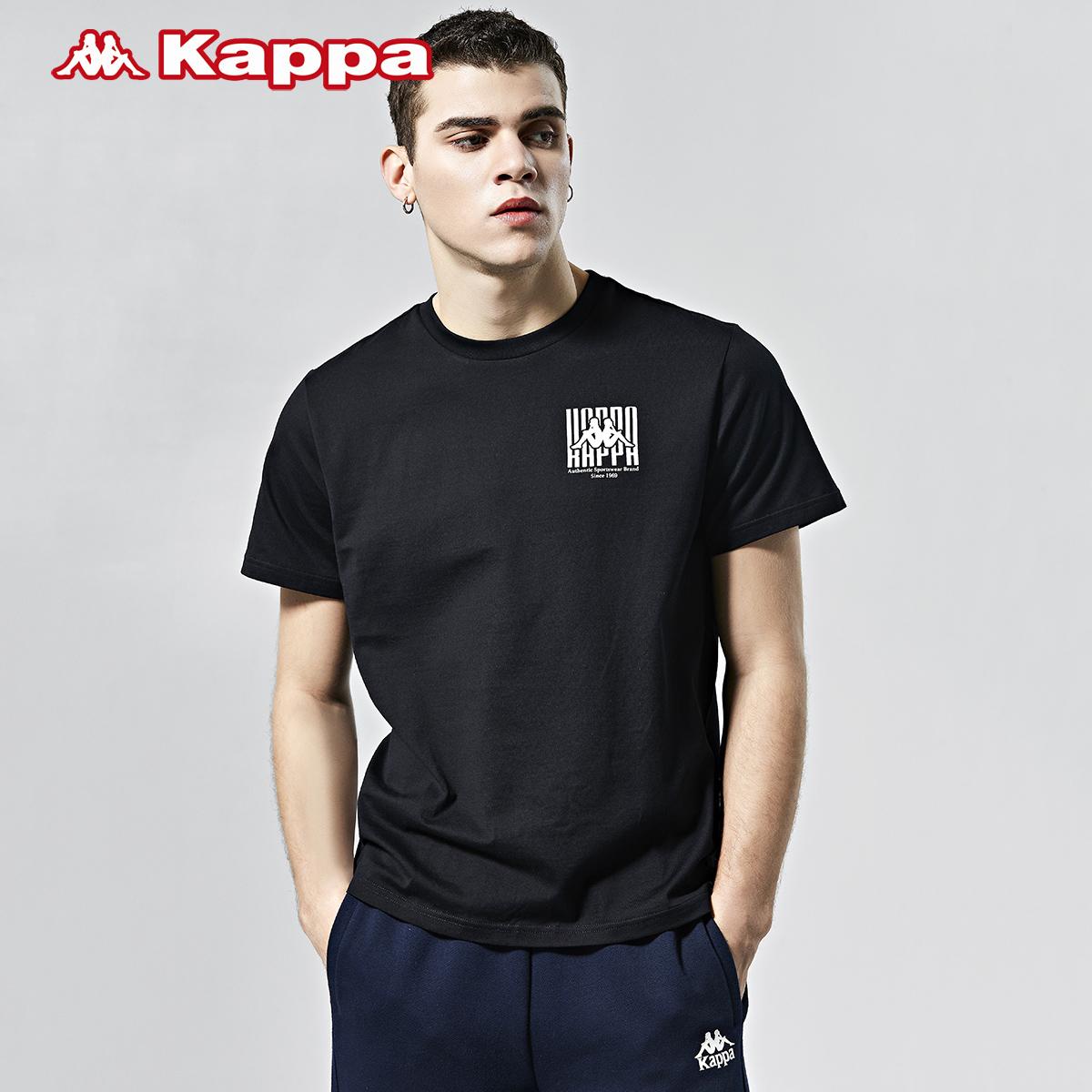 Kappa卡帕男款运动短袖基础休闲T恤夏季圆领宽松半袖 2020新款