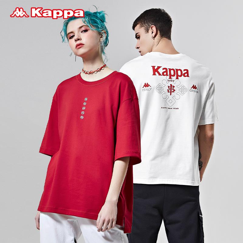 Kappa卡帕情侣男女新年款运动短袖休闲T恤半袖2020新款 K0AW2TD28