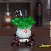 Lucky jade cabbage office big pen ornaments home furnishings creative cute decorations practical opening gifts