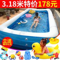 儿童充气游泳池家用成人超大号家庭婴儿游泳桶加厚洗澡池宝宝水池