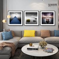 客厅装饰画沙发背景墙画现代简约三联大气北欧挂画餐厅风景壁画