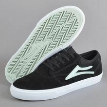 乐凯夏季薄荷绿标黑色翻毛皮滑板鞋 街舞BMX极限长板HUFDCETNIES