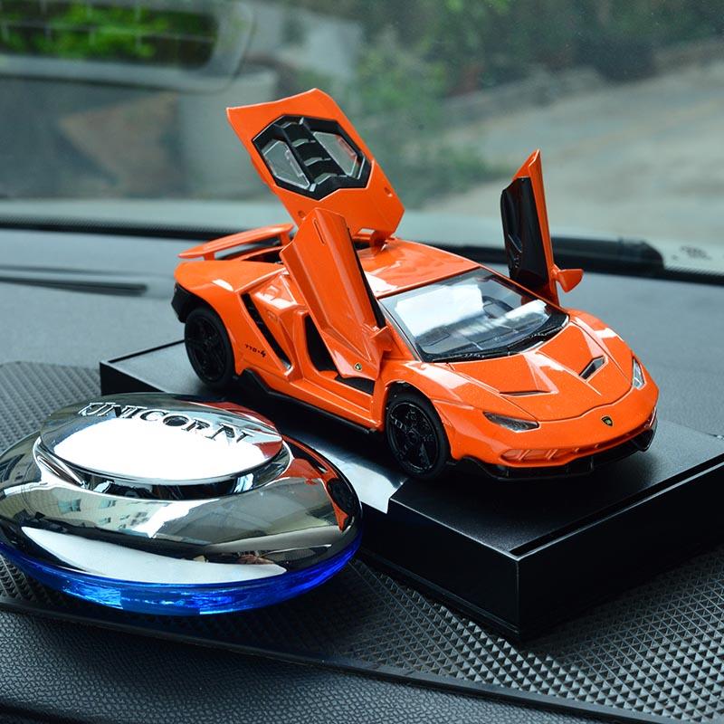 兰博770基尼车模型汽车摆件创意网红金属车内饰品香水精油香薰男