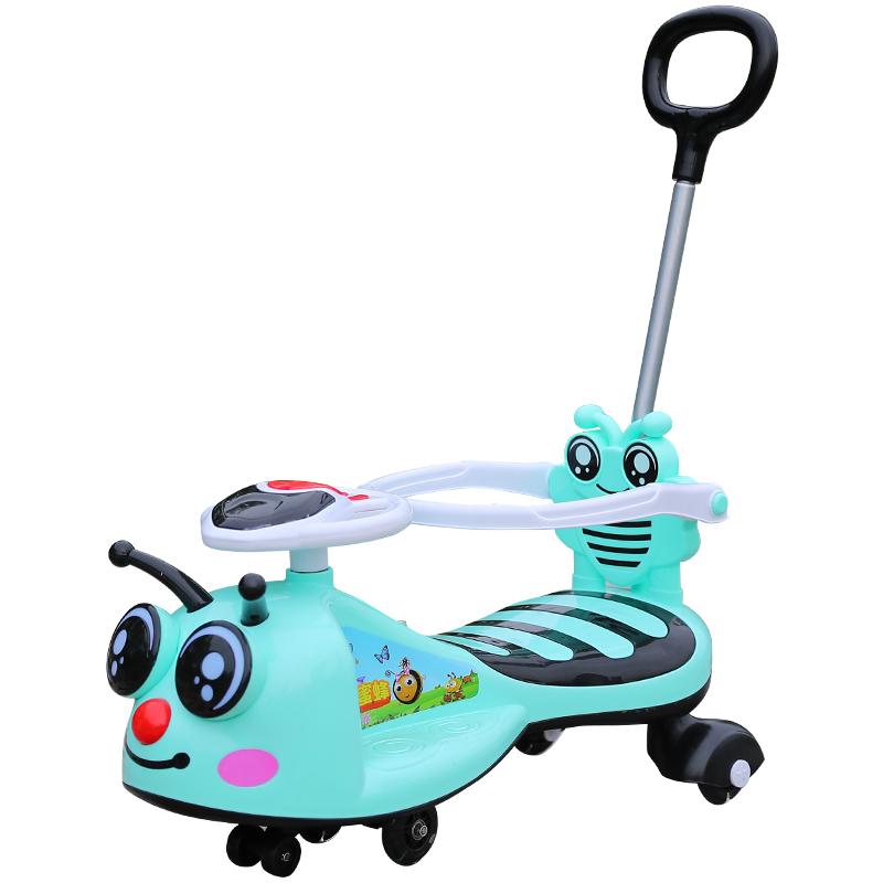 儿童扭扭车1-3岁防侧翻女宝宝溜溜车万向轮滑行摇摆滑滑车妞妞车