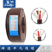 Blue leaf pure copper core speaker cable 2 core 2.0 square speaker line outdoor audio line performance engineering cable