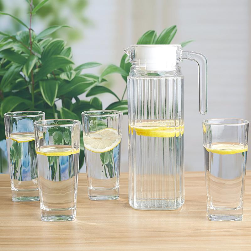家用冷水壶凉开水玻璃水壶凉水壶套装大容量凉水杯扎壶耐热茶壶