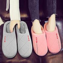 铭艺冬天加厚透气静音坡跟外穿棉拖鞋包跟女款制作高帮小孩子
