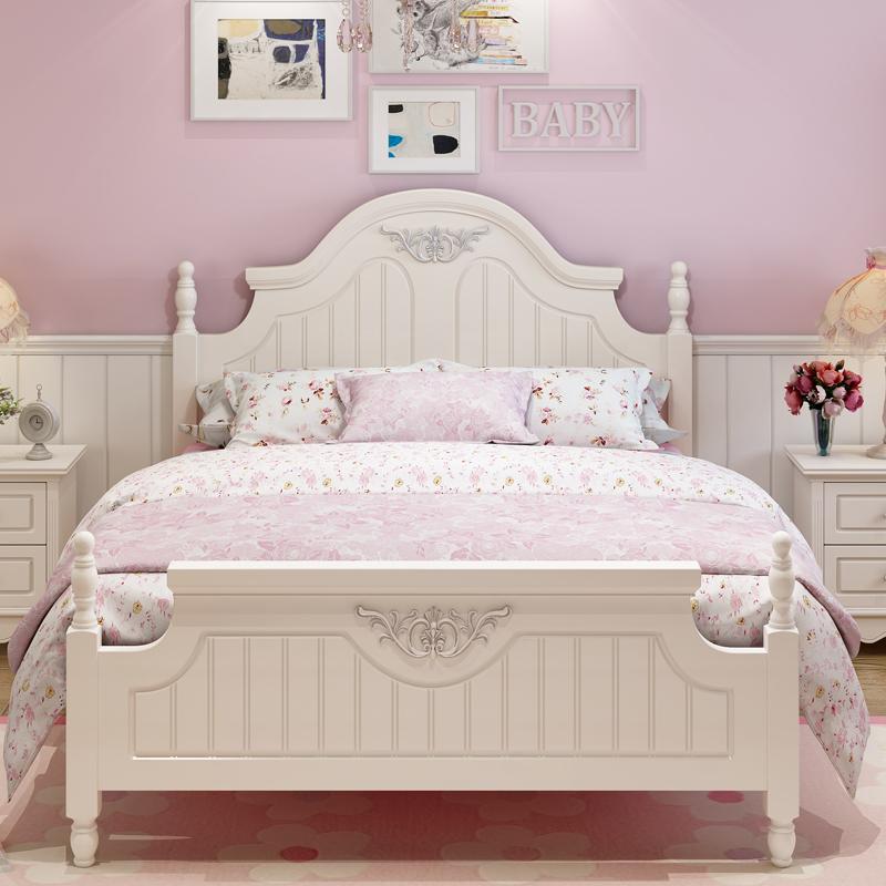 儿童床单人床女孩卧室