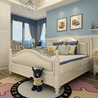 儿童床男孩实木床美式公主床1.5米欧式女孩床1.8米白色实木床包邮性价比高吗