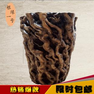 特价枣木墩子根雕凳子树根底座实木大板茶几茶凳原木树桩矮凳花架