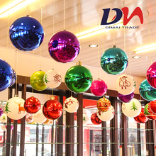 Christmas Decoration Bright Ball Ceiling Colorful Ball Hanging Tree Hanging Electroplated Ball Shop Hotel Celebration