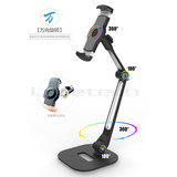 Ledetech is happy with the new led-205d tabletop base aluminum alloy mobile phone stand, tablet iPad stand