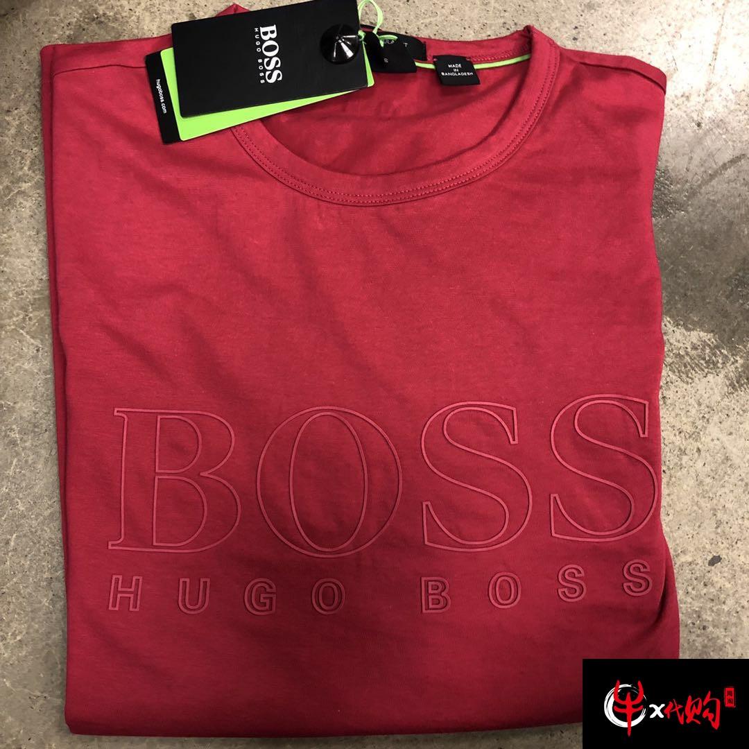 牛X正品 Hugo boss男士经典款纯色大logo短袖T恤 打底衫