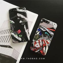 7芝加哥AJ1外壳7P 8plus手机壳苹果6S iphoneX Sneakers篮球运动鞋