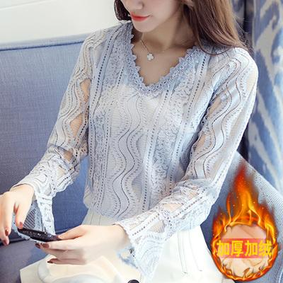 蕾丝打底小衫女装秋冬装2018新款韩版长袖T恤百搭上衣服秋季时尚
