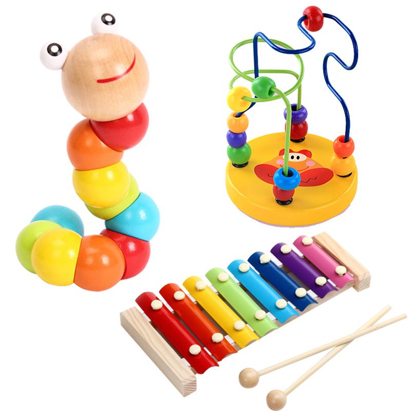 扭扭虫绕珠八音手敲小木琴婴幼儿童益智男女孩音乐宝宝玩具1-3岁3元优惠券