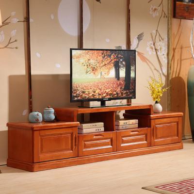 实木电视柜客厅现代中式组合电视背景墙柜电视机柜影视柜储物柜销量排行