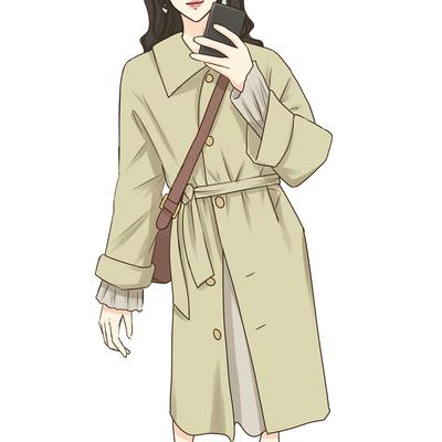樱子定制 英伦风过膝中长款女皮衣外套复古休闲收腰风衣秋装