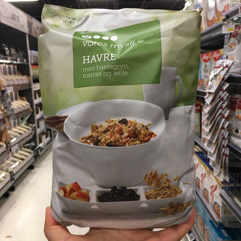 丹麦代购VORES多种水果口味燕麦片早餐营养免煮代餐即食干吃直邮