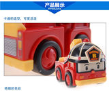 Polley return car version polley police car fire truck without deformation inertia car polley toys a set of new package