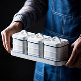 Ceramic coffee sugar cans candy cans with coverNordic kitchen salt cans home filled with white sugar storage can seal