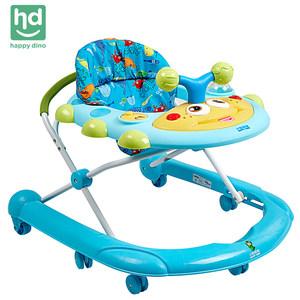 小龙哈彼7-18个月婴儿学步车宝宝U型多功能防侧翻可坐儿童学步车