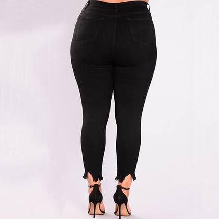 Pluse size 2XL-7XL big women jeans ladies skinny denim pants