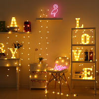 Led stars small lights flashing lights lights stars girl heart room layout Chinese New Year decoration network red light