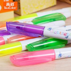 荧光笔真彩记号笔标记笔批发文具店学习用品糖果六色学生划线笔