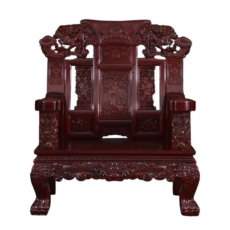 东阳红木家具沙发组合麒麟非洲印尼黑酸枝木客厅实木整装厂家直销