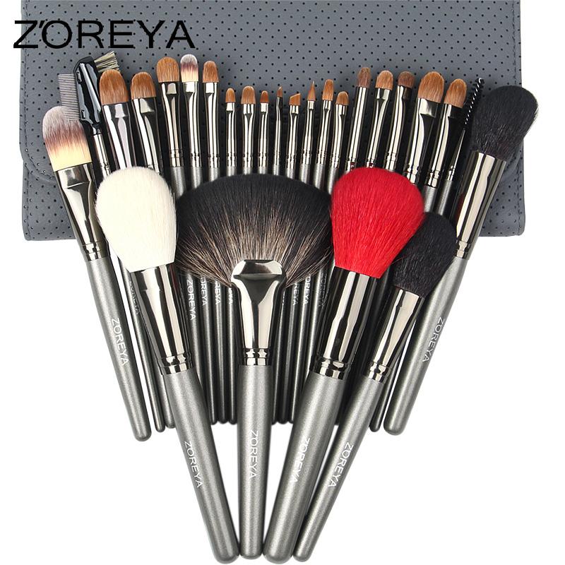 ZOREYA专业化妆刷套装 26支貂毛动物毛套刷影楼专用美妆工具全套5元优惠券